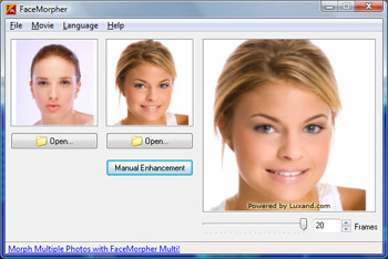 FaceMorpher Lite screenshot: face, faces, morph, photo, images, morphing, morphing software,
